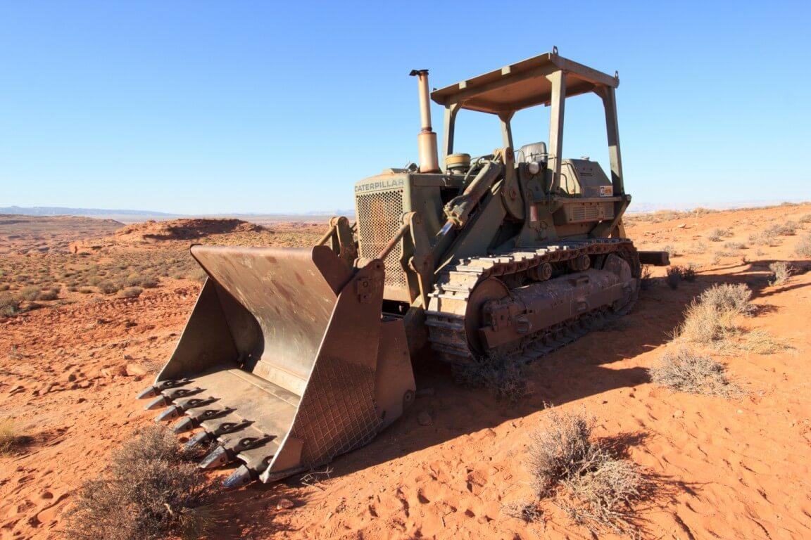 Dozer in desert