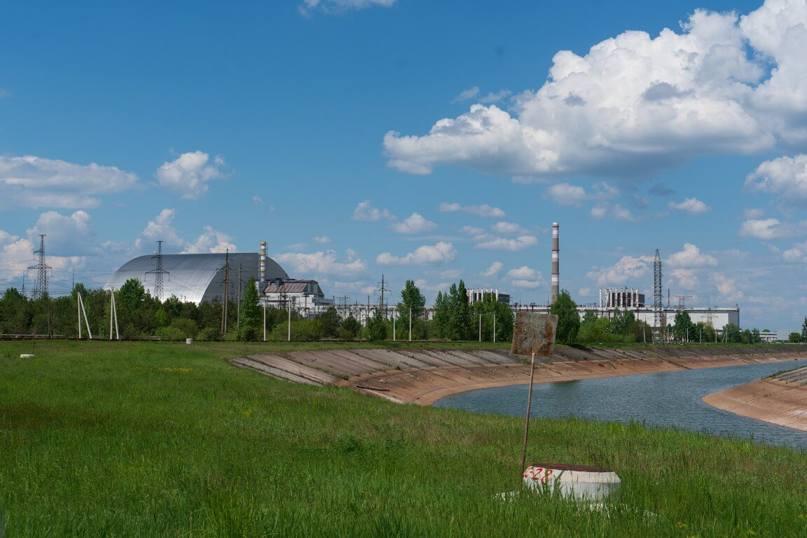 Chernobyl nuclear power plant in Ukraine