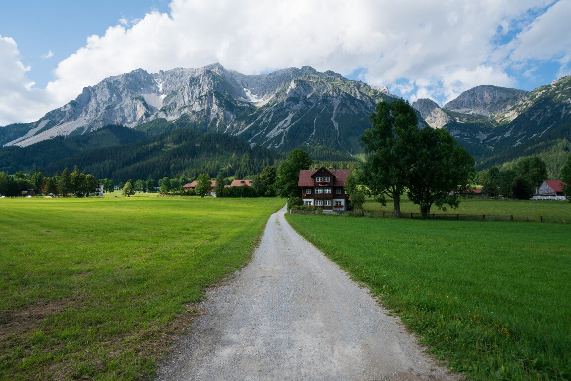Austria mountains and cottages