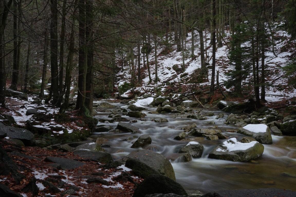 Mumlava river in Autumn