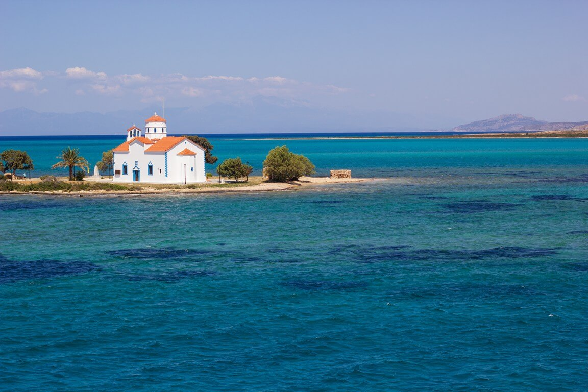 Saint Spyridon church at Elafonisos island